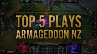 Top 5 plays from Armageddon Expo - Oceanic Regional Final